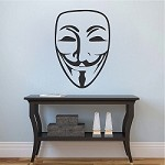 Guy Fawkes Mask Decal Sticker