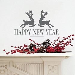 Happy New Year Removable Vinyl Decal