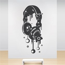 Headphones Wall Decal
