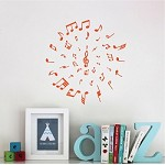 Music Circle Wall Decal