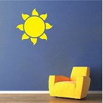 Sun Vinyl Wall Decal Sticker