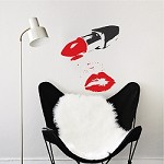 Powder Room Lipstick Wall Decal