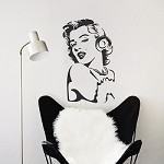 Marilyn Monroe Vinyl  Wall Decal Art