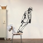 Michael Jackson Leaning Wall Art Decal