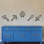 Minecraft Tools Wall Decals