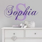 Fancy Family, Nursery, or Business Name Initial Decal