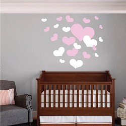 Nursery Room Heart Wall Decals