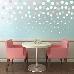 Decreasing Dots Vinyl Decal Stickers