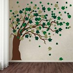 Nursery Blowing Tree Wall Decal
