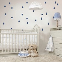 Rain Drops Bedroom Decals