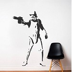 Storm Trooper Wall Decal Sticker