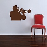 Trumpet Player Decal Adhesive