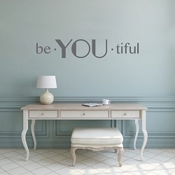 Be You Tiful Vinyl Lettering Decal Sticker