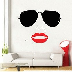 Vogue Girl Wall Decal