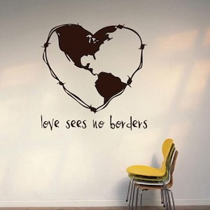 Love Sees No Borders Wall Decal