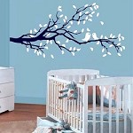Nursery Lovebird Branch Wall Decal