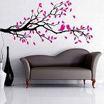 Let's Kiss On A Branch Wall Decal