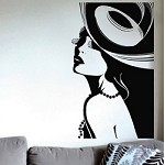 Posh Lady Wall Decal