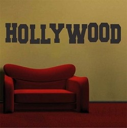 Hollywood Sign Wall Decal