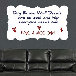 Plaque Dry Erase Wall Decal