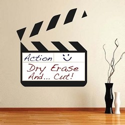 Dry Erase Clapboard Wall Decal
