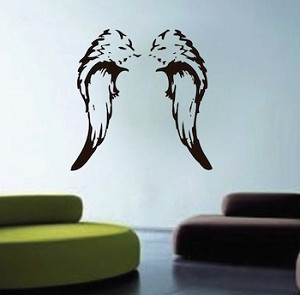 Angel wings wall decal for Angel wall mural