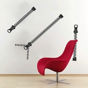 Zip It Wall Art Decal