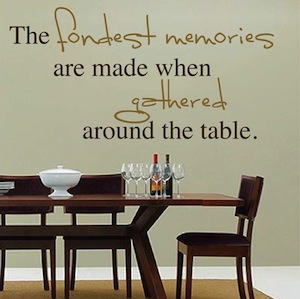 Dining Room Wall Quotes Trendywalldesigns Com