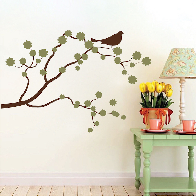 beautiful flower branch interior decal | japan blossom | trendy wall