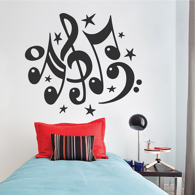 music vinyl wall decal _ nursery and kids music wall art decals _