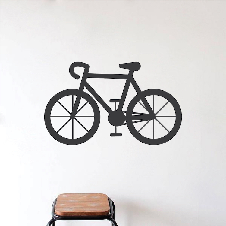 bicycle vinyl wall decal decor _ sticker murals for walls _ trendy