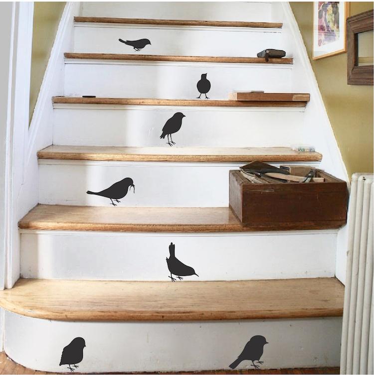 Little Bird Sticker Decals Birds For Stairs Stickers