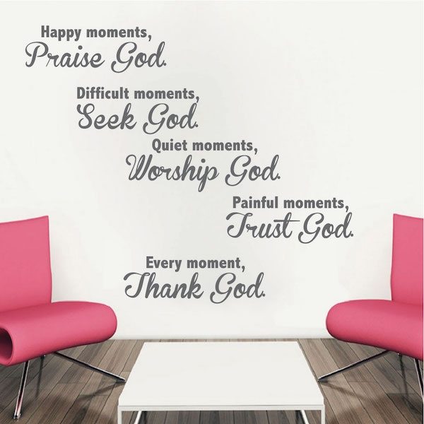Spiritual Moments Wall Quote Trendy Wall Designs
