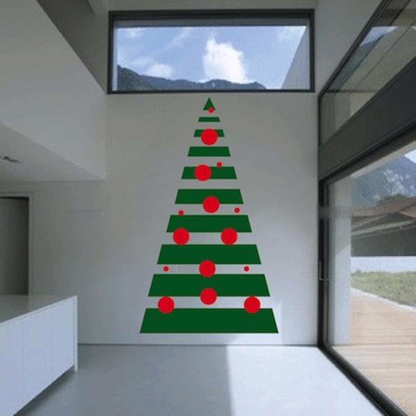 Wall Christmas Trees.Diy Geometric Christmas Tree Wall Decal