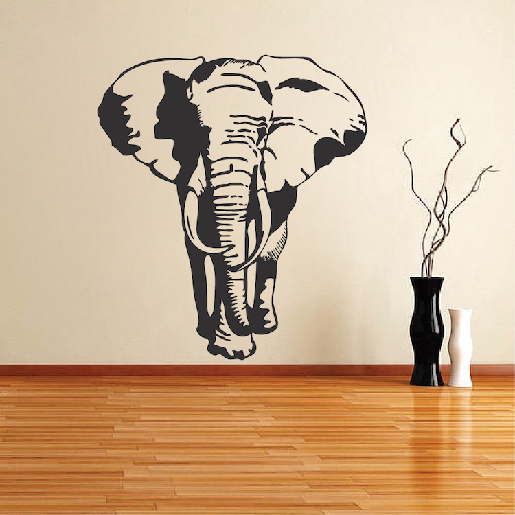 elephant vinyl wall decal _ large elephant stickers for walls _