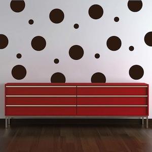 Even Polka Dot Wall Art Design Trendy