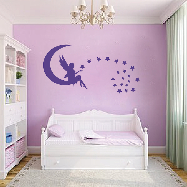 Fairy Bedroom Wall Decal _ Magical Girls Room Vinyl ...