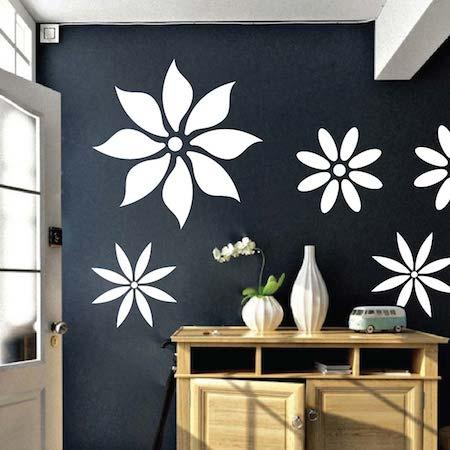 Pleasant Flower Wall Decals Trendy Wall Designs