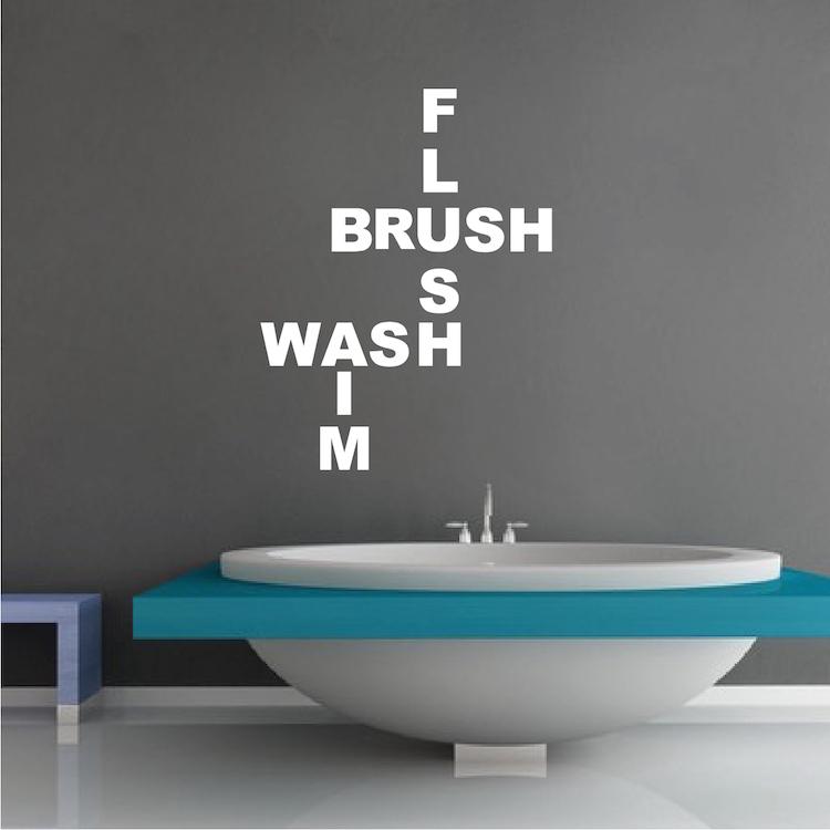 Cute Bathroom Wall Decal Saying Bathroom Stickers Trendy Wall Designs
