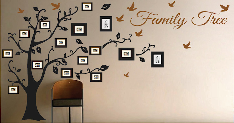 Picture Frame Family Tree Wall Art Tree Decals Trendy Wall Designs