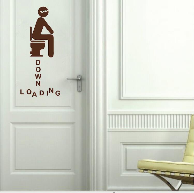 Ing Bathroom Decal Sticker, Bathroom Door Decals