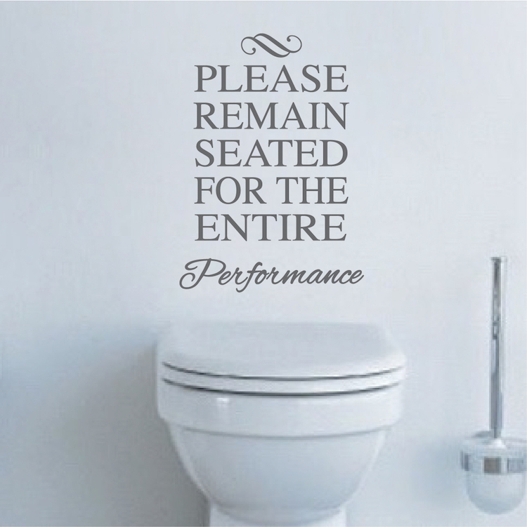 Funny Toilet Vinyl Decal Sticker From Trendy Wall Designs