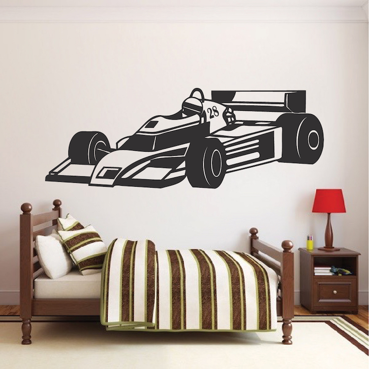 Race Car Boys Wall Decal Kid S Racing Decor Wall Art For Apartment Bed American Wall Designs