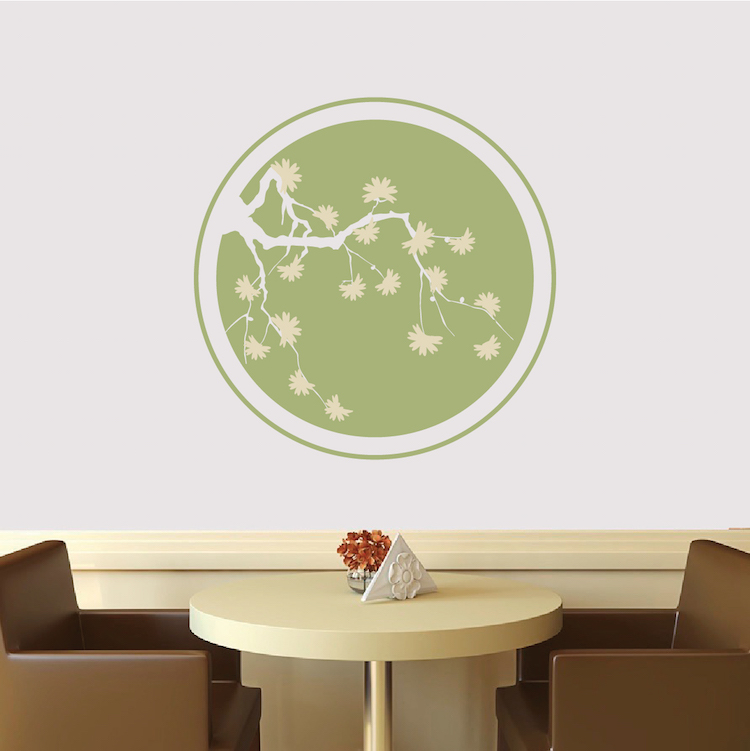 583d12fca5a Cherry Blossom Ring Wall Decal. Zoom