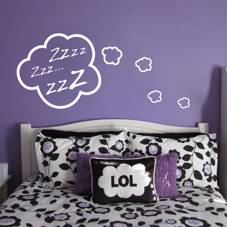 Snoozing Cloud Bedroom Decal