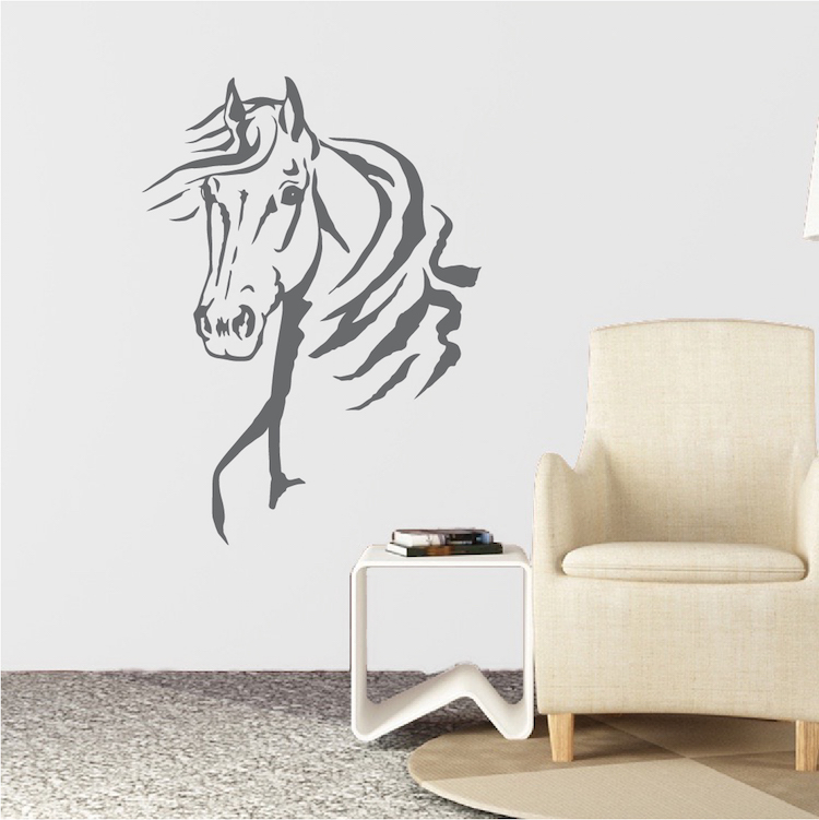 Horse Sticker Laptop Decal Car Decal 6.2 Inches Tall x 7 Inches Wide Horse Decal Equestrian Decal