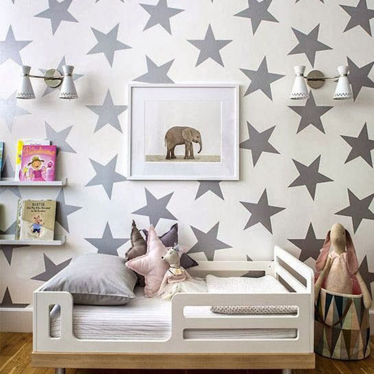 large bedroom star stickers - bedroom stars wall decals - removable