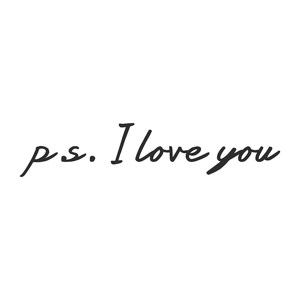 p s  I Love You Wall Design