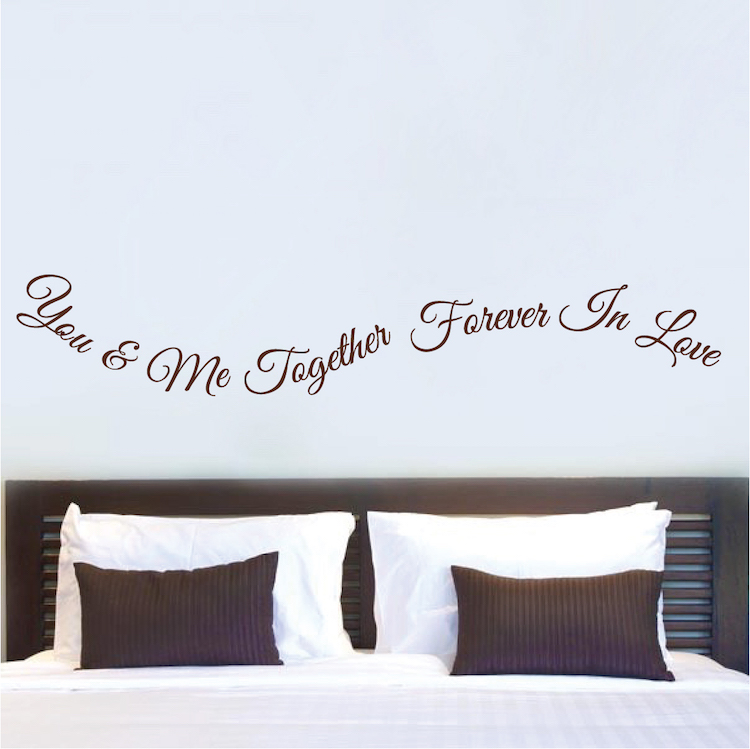Romantic Bedroom Wall Quote Decal From Trendy Wall Designs