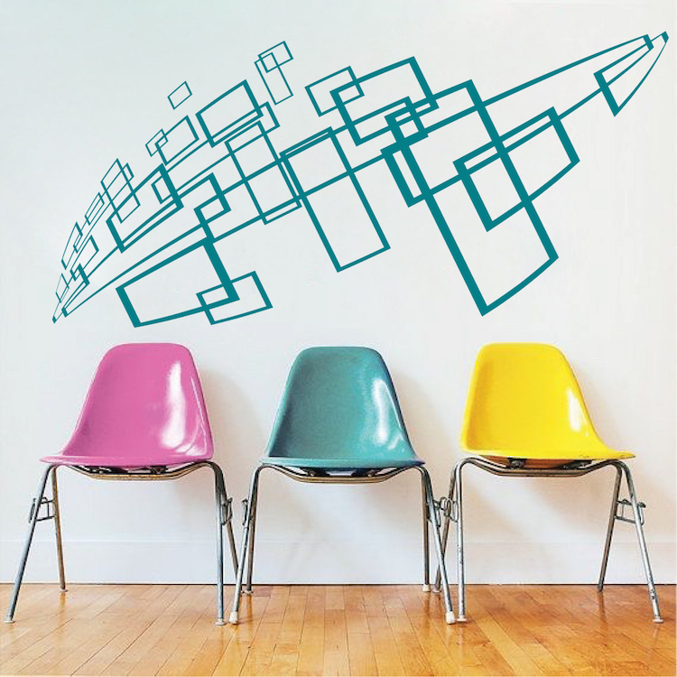 geometric wall decal & interior stickers from trendy wall designs